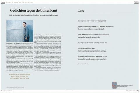 Gedichten tegen de buitenkant - Erik Jan Harmens in Trouw - Erik Jan Harmens