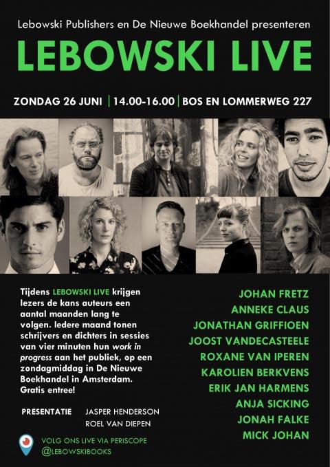 Kom op zondag 26 juni naar Lebowski Live #5! - Erik Jan Harmens