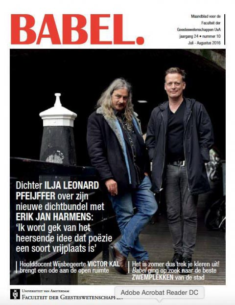 Harmens en Pfeijffer in Babel Magazine - Erik Jan Harmens