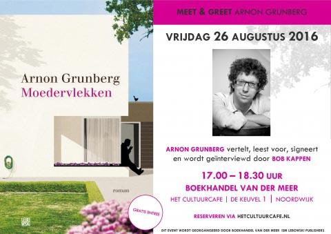 Arnon Grunberg bij Boekhandel Van der Meer - 26 augustus in Noordwijk