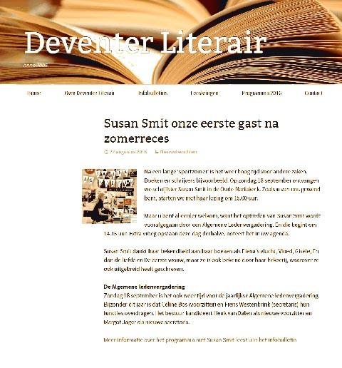 Lezing: Vereniging Deventer Literair