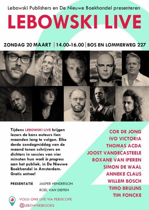 Kom naar Lebowski Live #2! - zondag 20 maart
