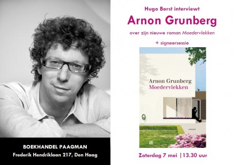 Hugo Borst interviewt Arnon Grunberg in Den Haag - Hugo Borst