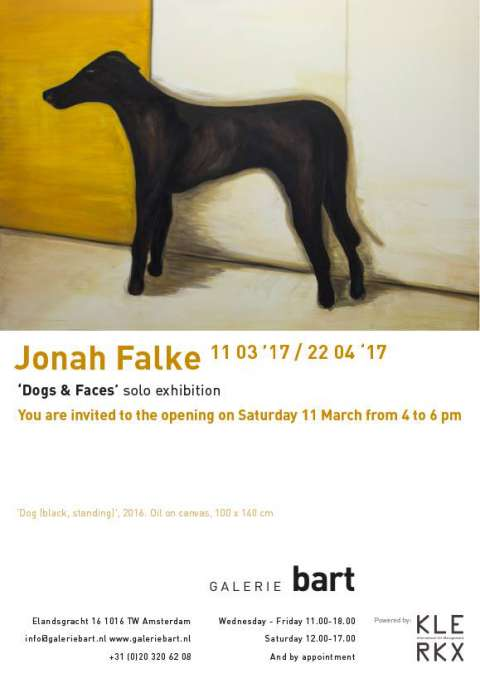 Jonah Falke opent eerste solo-expo Dogs & Faces