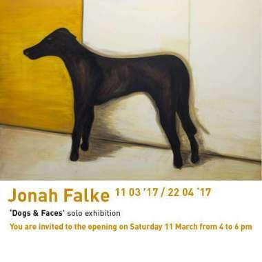 Jonah Falke opent eerste solo-expo Dogs & Faces