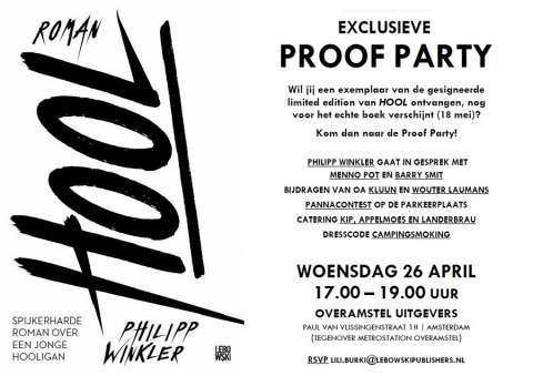 Kom naar de Proof Party van HOOL
