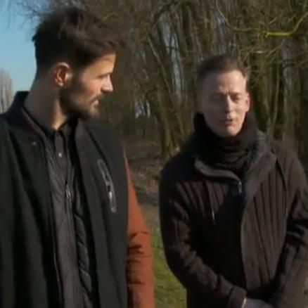 Erik Jan Harmens met Arie Boomsma in De Wandeling - Erik Jan Harmens