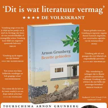 Arnon Grunberg met 'Bezette gebieden' on tour tijdens Boekenweek 2020 (in de kipcaravan)