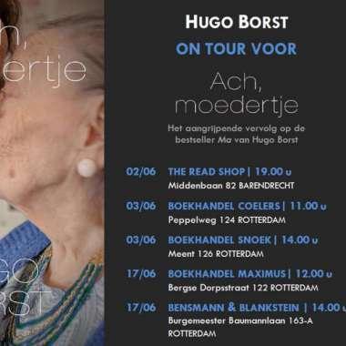 Boekhandelstour Hugo Borst voor 'Ach, moedertje'