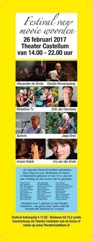 Festival van Mooie Woorden - Erik Jan Harmens