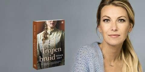 Susan Smit wordt geïnterviewd over 'Tropenbruid' bij Paagman (Den Haag)