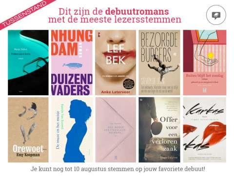 Stem Steven de Jong naar de shortlist Hebban Debuutprijs